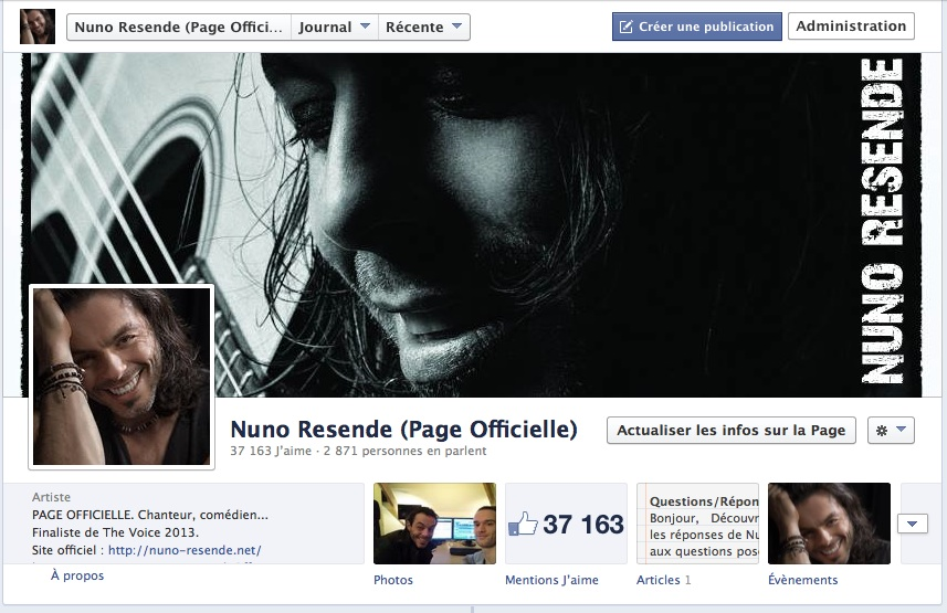 Facebook Nuno Resende Officiel