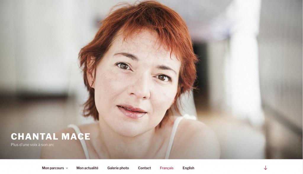 Refonte du site internet Chantal Macé