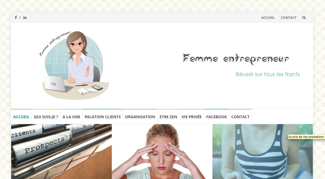 Blog Femme Entrepreneur.fr