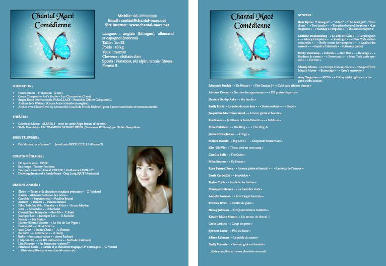 Création d'un CV pour Chantal Macé