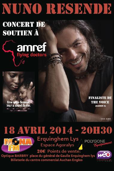 Création d'une affiche concert pour l'AMREF