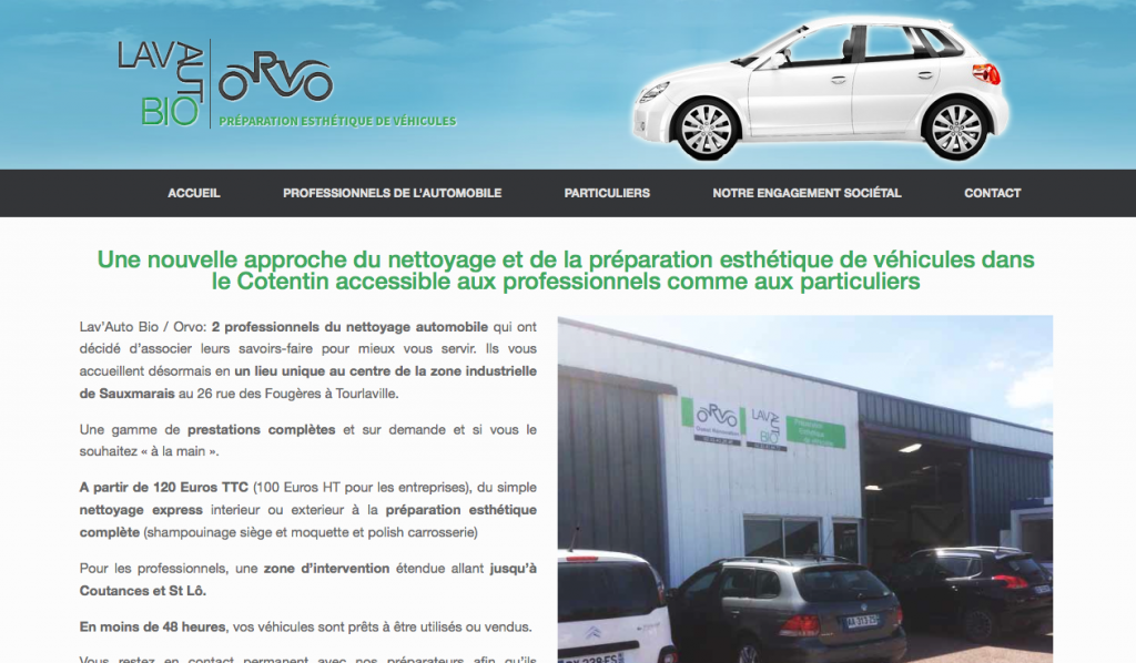 Restauration du site Lav'Auto Bio/Orvo