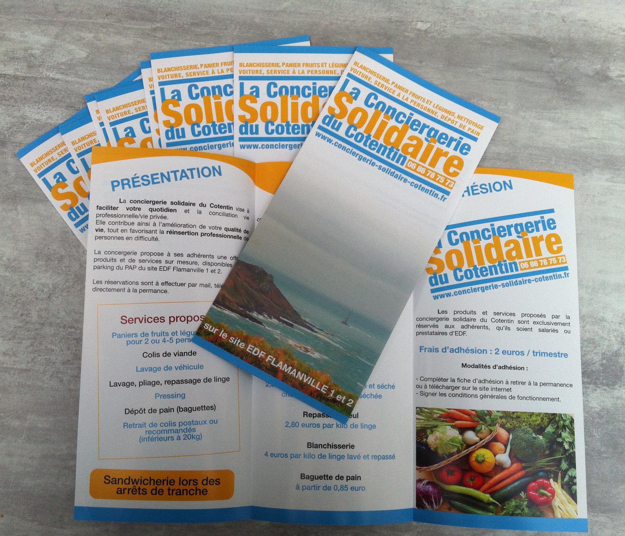 Création d'une brochure pour La Conciergerie Solidaire du Cotentin