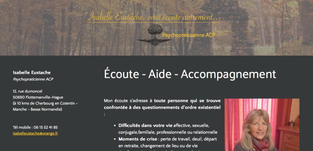 Isabelle Eustache - Psychopraticienne ACP- Site internet Jimdo