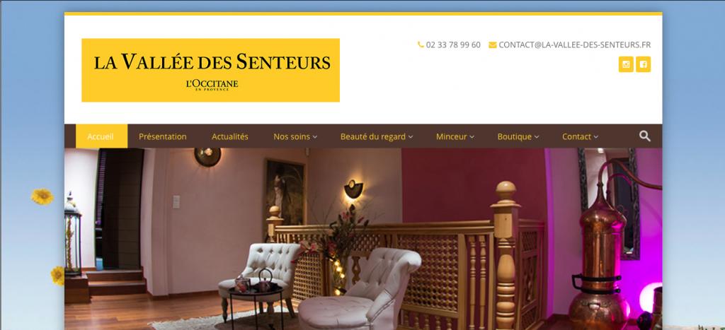 Refonte site internet La Vallée des Senteurs