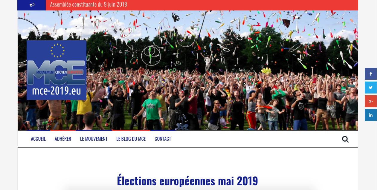 Community Management pour le Mouvement Citoyen Européen