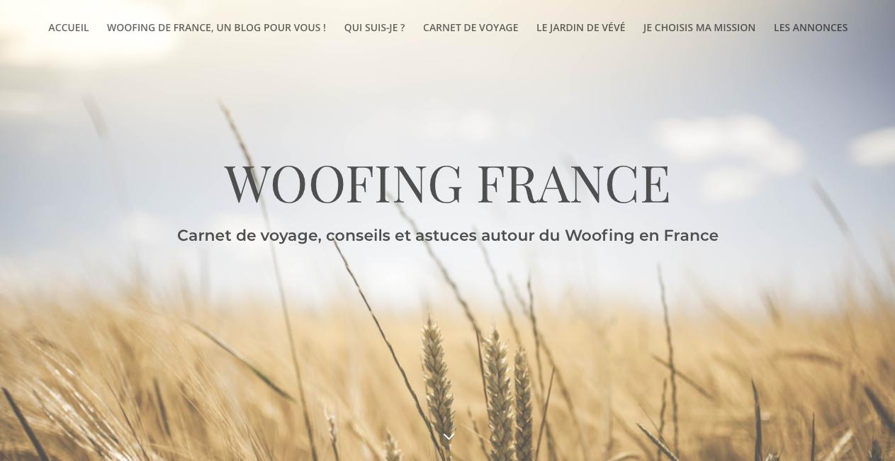 Création du blog Woofing France