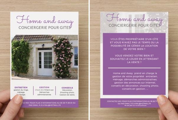Création de flyers pour Home and Away