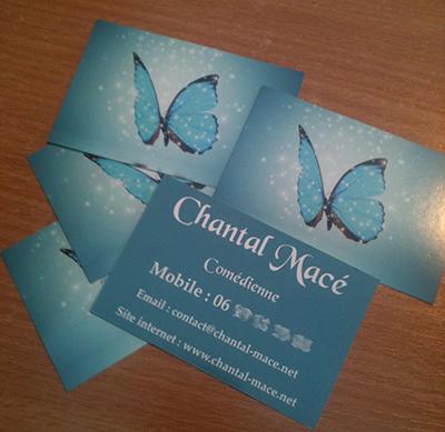 Création de cartes de visite pour Chantal Macé