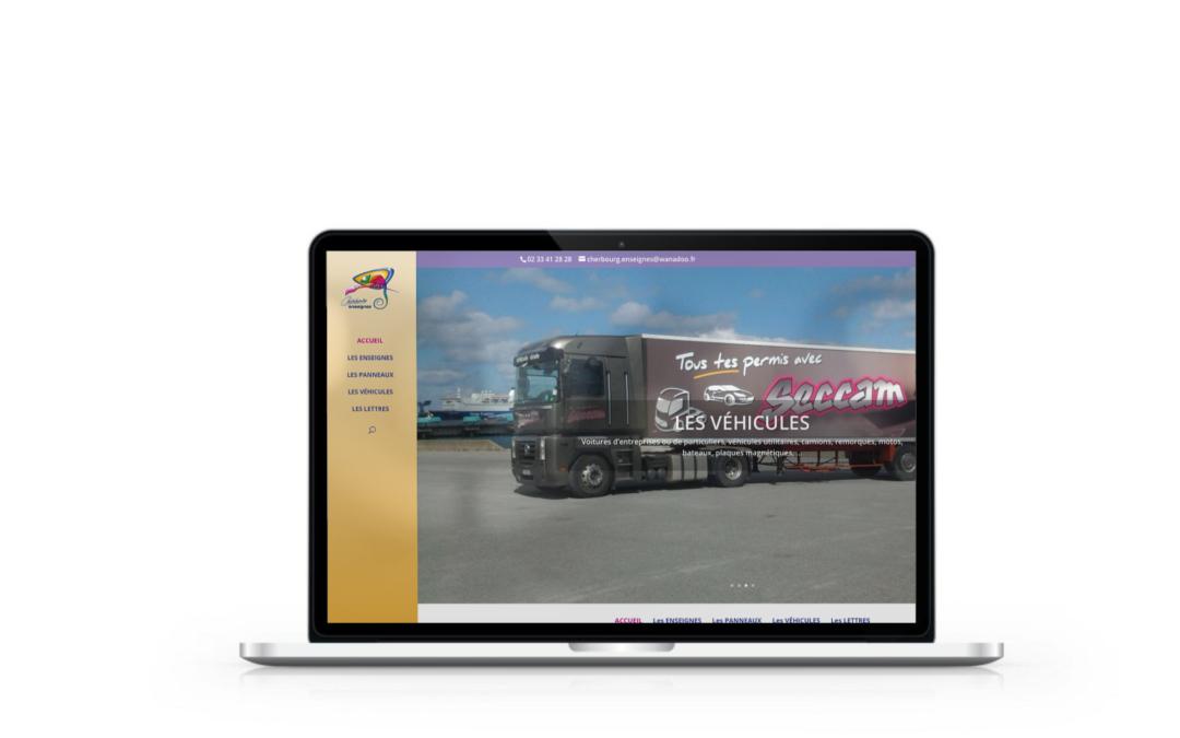 Création du site internet Cherbourg Enseignes