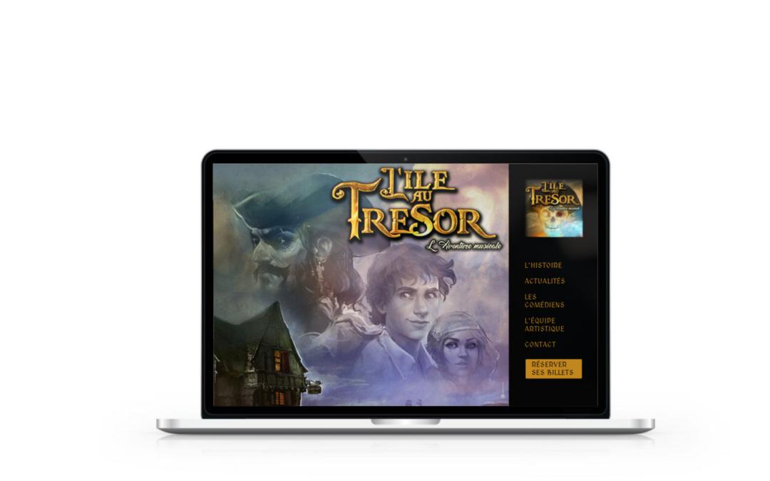 Création du site internet & Community management de l'Ile au Trésor, l'aventure musicale