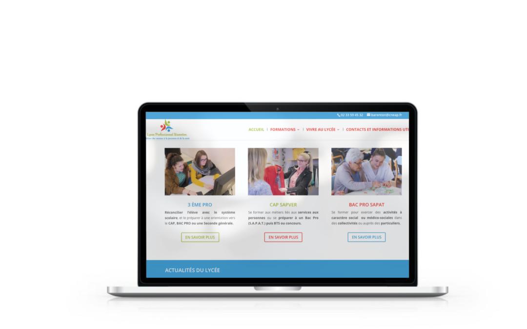 Refonte du site internet du lycée de Barenton