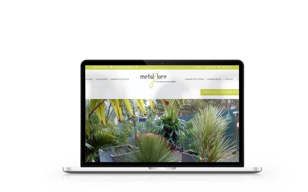 Création de la boutique en ligne Métalflore