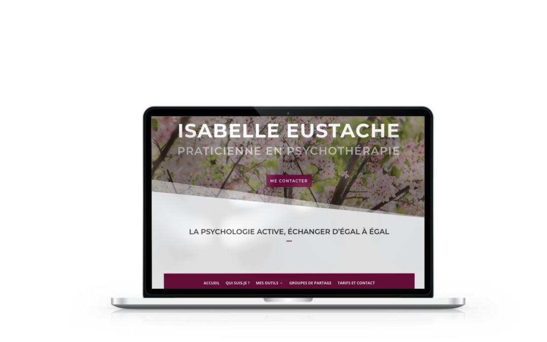 Refonte du site internet d'Isabelle Eustache