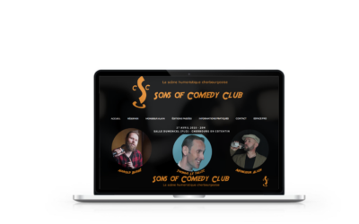 Création du site internet Sons of Comedy Club Cherbourg