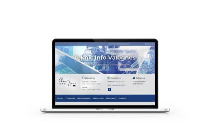 Création du site internet de Teknic'Info Valognes