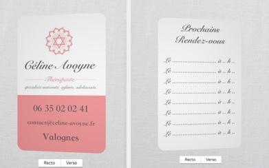 Création logo et cartes de visite pour Céline Avoyne