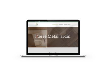 Création du site internet de Pierre Métal Jardin