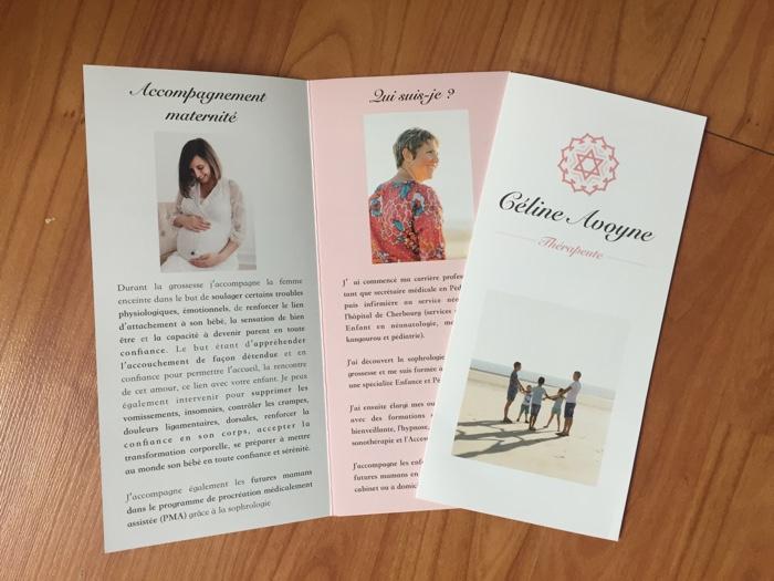 Création de dépliant pour Céline Avoyne