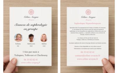 Création flyers pour Céline Avoyne