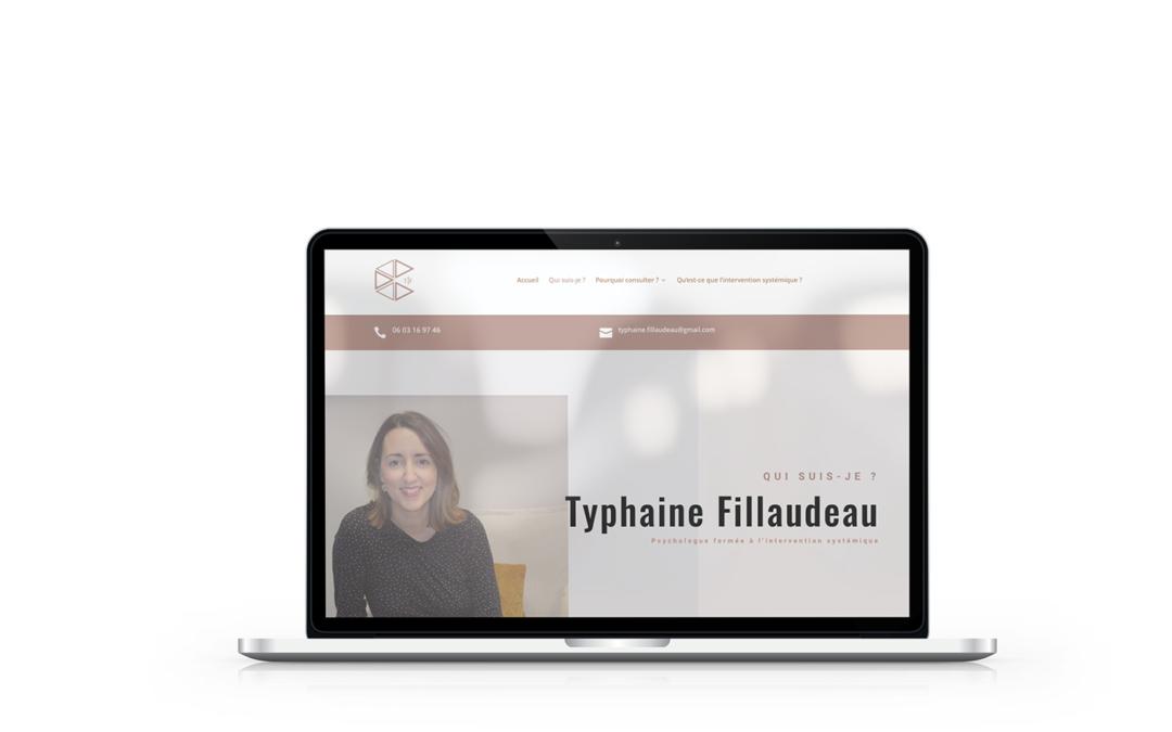 Création du site de Typhaine Fillaudeau, psychologue à Cherbourg en Cotentin