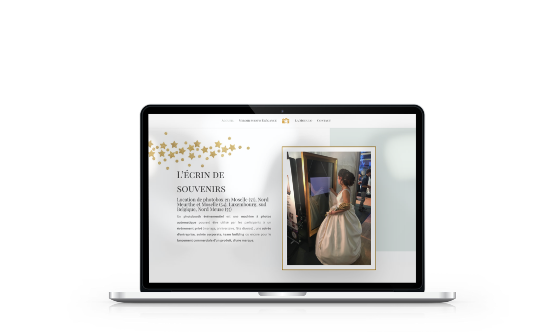 Création du site internet de L'écrin de Sourires