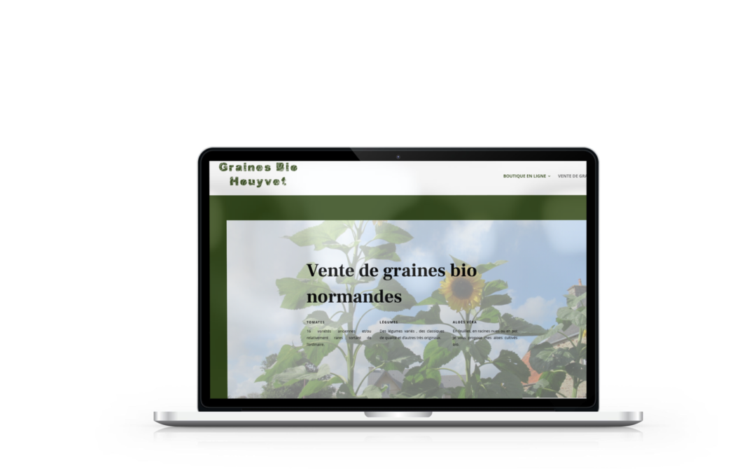 Création de la boutique en ligne de Graines bio Houyvet