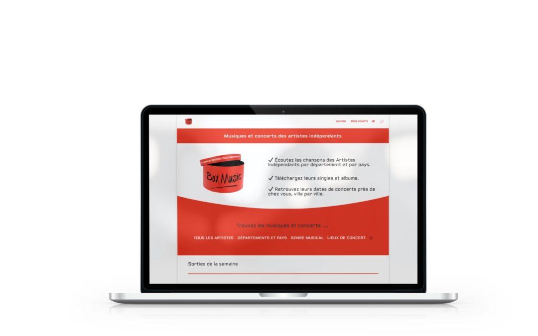 Création de la boutique en ligne Box Music