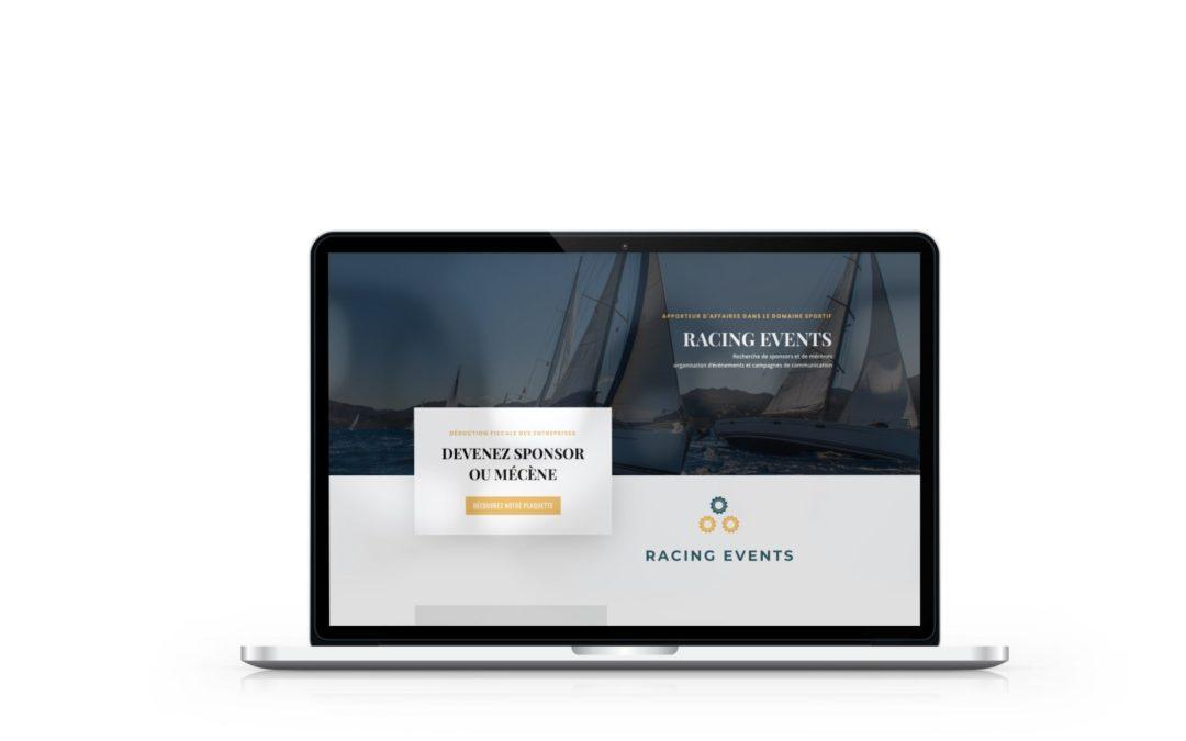 Création d'un site vitrine pour Racing Events