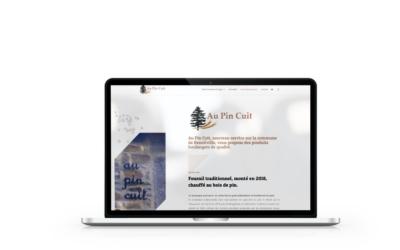 Création de la boutique en ligne de Au Pin Cuit