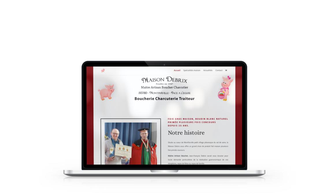 Refonte du site internet de la boucherie charcuterie Debrix