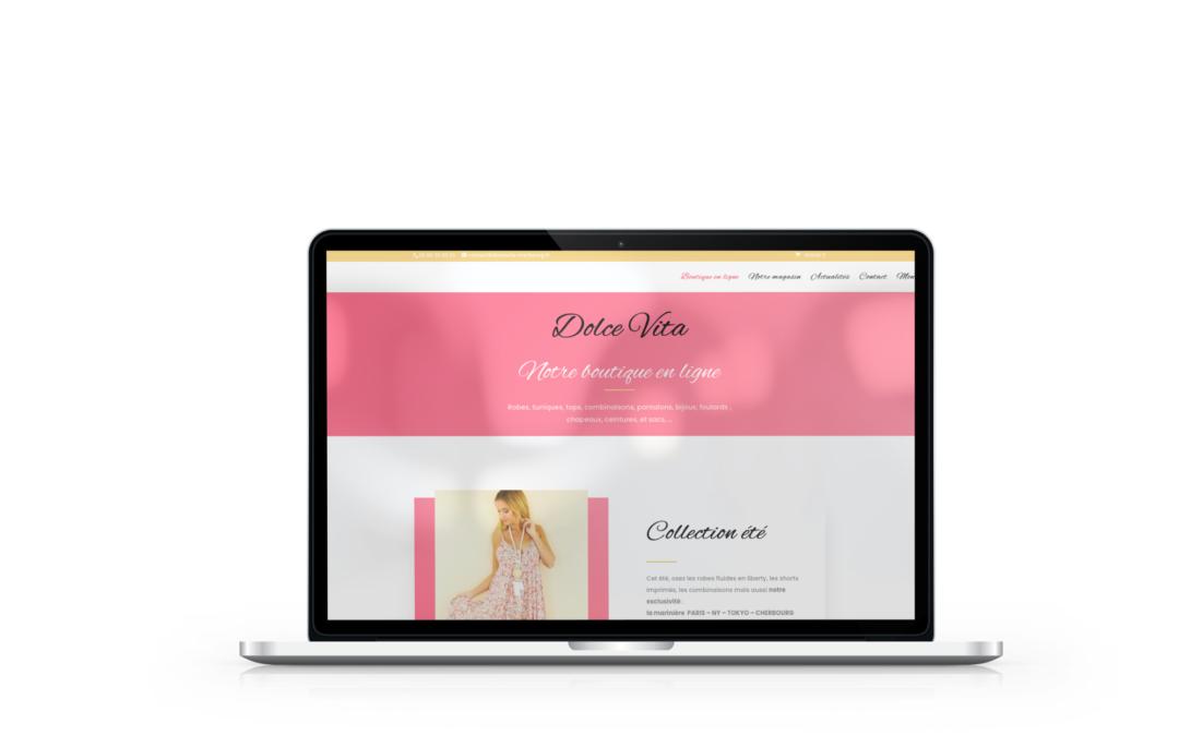 Création de la boutique en ligne de la boutique Dolce Vita