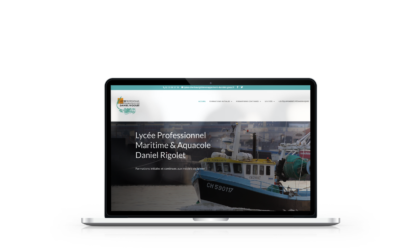 Refonte du site internet du lycée professionnel Maritime et Aquacole de Cherbourg