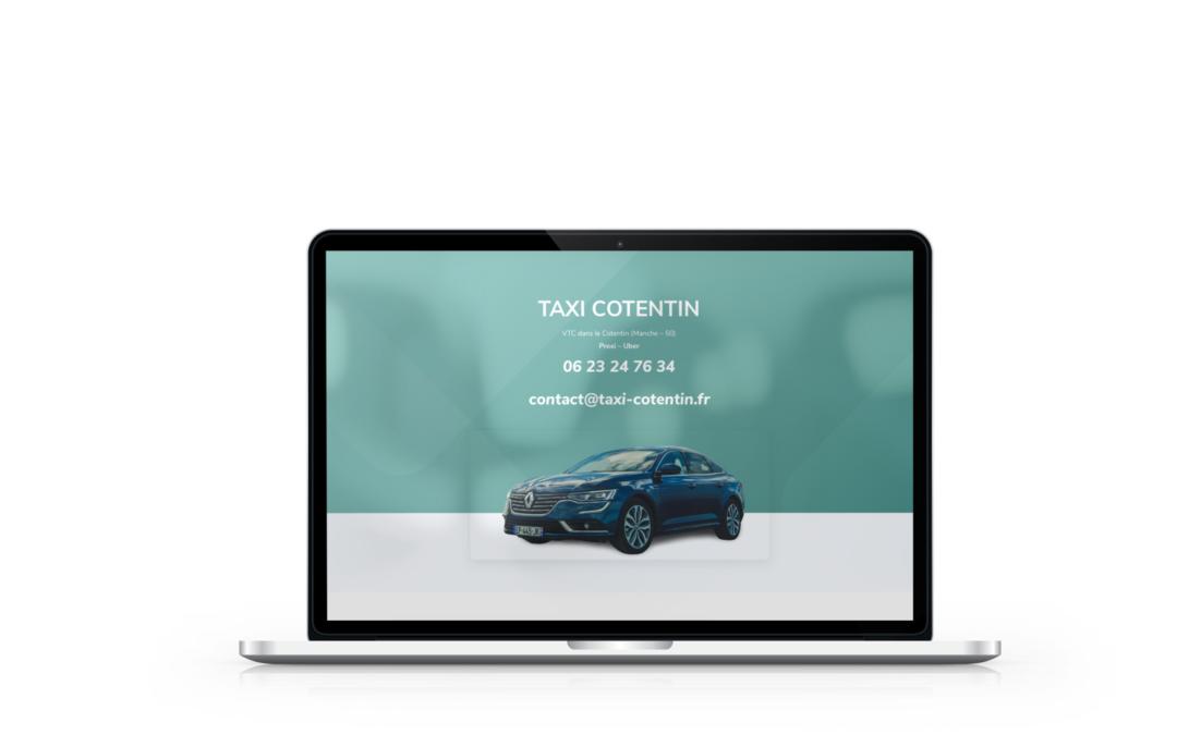 Création site vitrine pour Taxi Cotentin