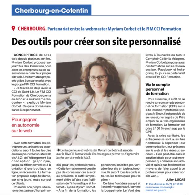 Article de Presse – 29 janvier 2021