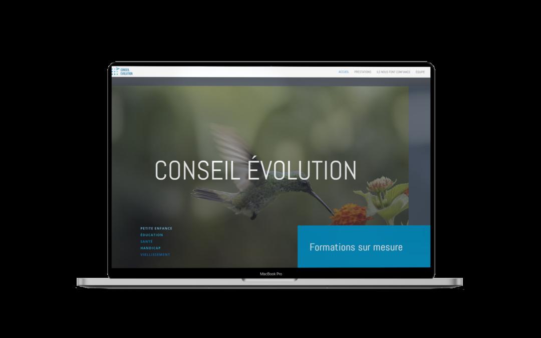 Refonte du site internet de Conseil Évolution